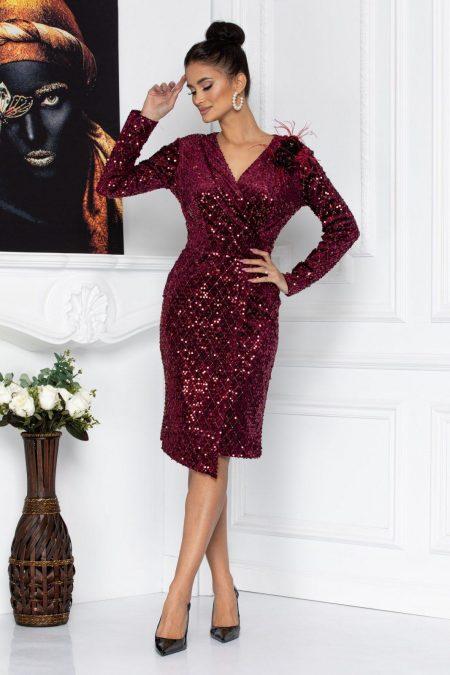 Monique Burgundy Dress