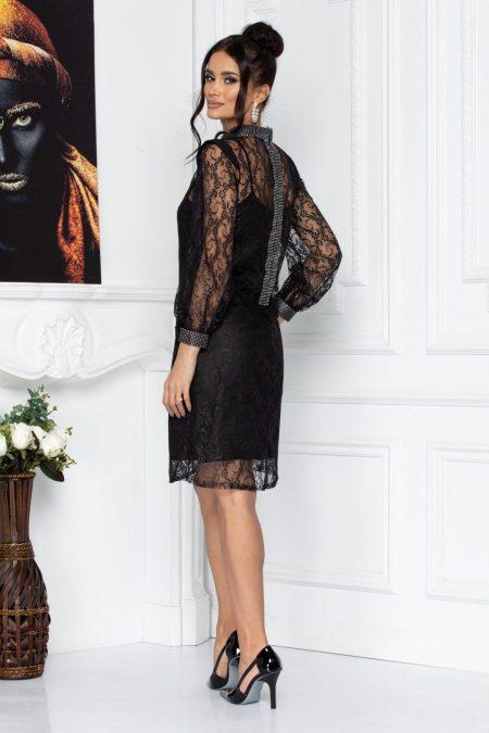 Μαύρο Φόρεμα Από Δαντέλα Konnie 8711