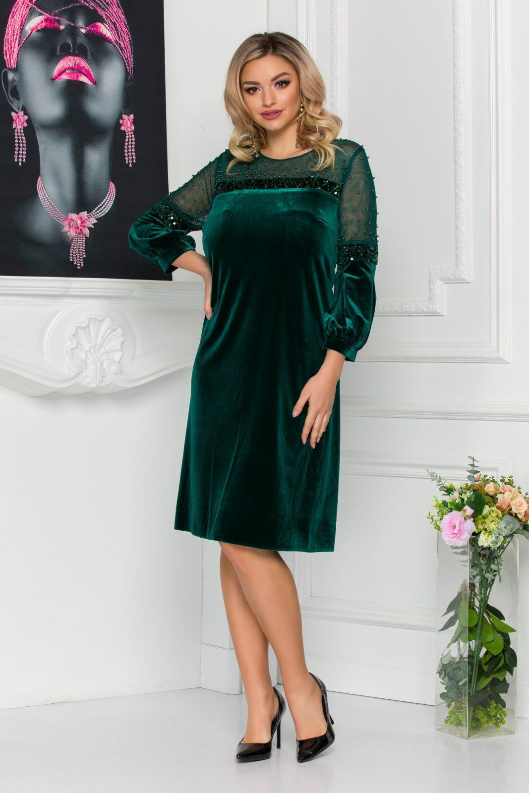 Πράσινο Βραδινό Φόρεμα Kiara 8804 2