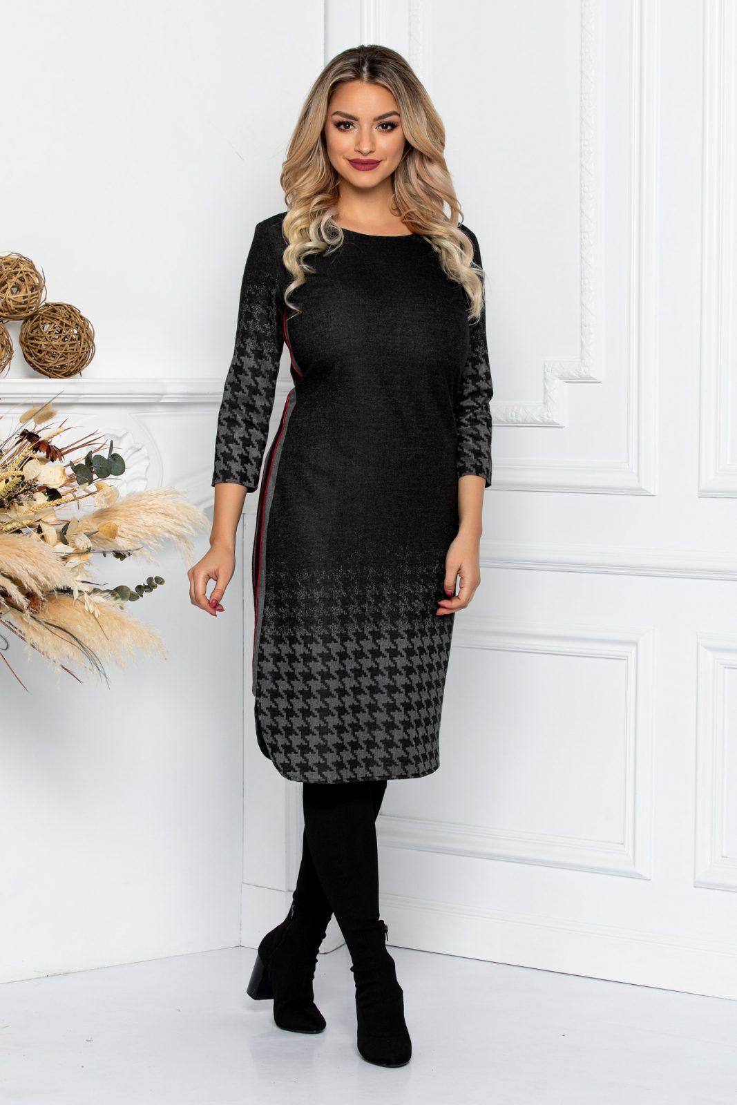 Μαύρο Φόρεμα Ivana 8653