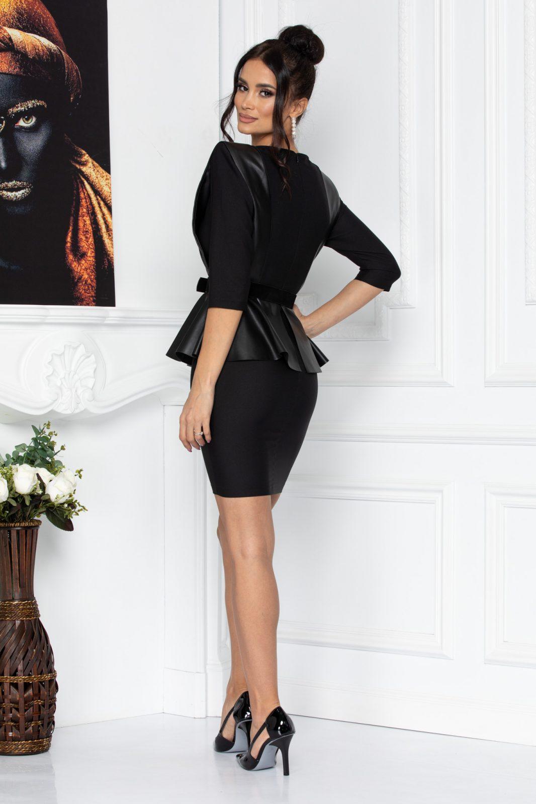 Μαύρο Φόρεμα Με Βάτες Sali 8672