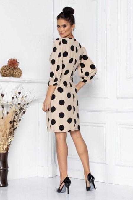 Nude Πουά Φόρεμα Debbie 8699