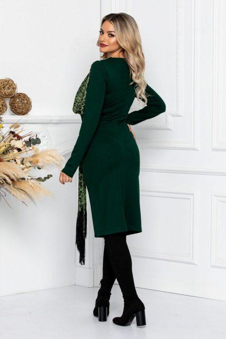 Πράσινο Φόρεμα Με Φουλάρι Lottie 8739