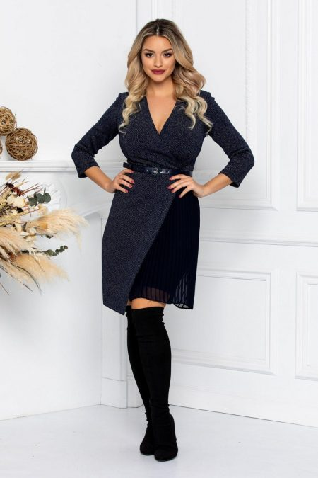 Nicolette Navy Dress