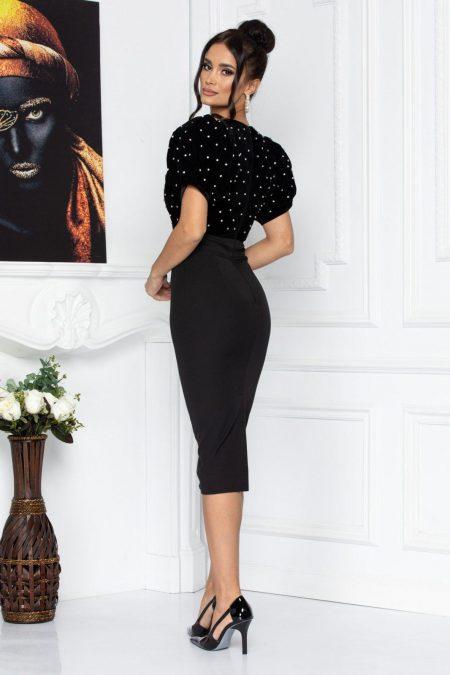 Μαύρο Βραδινό Φόρεμα Στρας Με Britney 8702