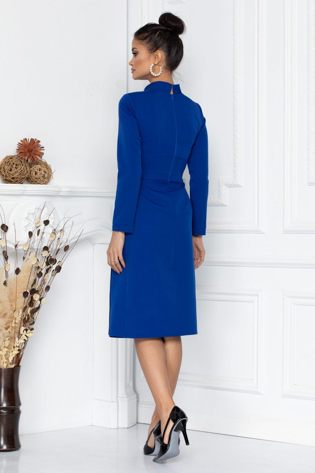Μπλε Ρουά Μακρυμάνικο Φόρεμα Melya 8626