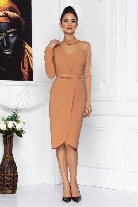 Adette Caramel Dress