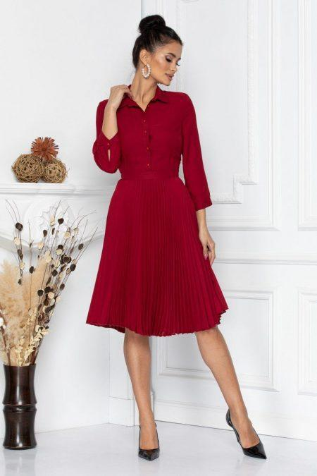 Nancy Burgundy Dress