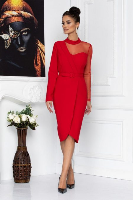Adette Red Dress