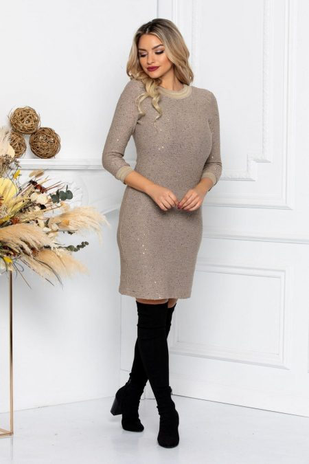 Grace Beige Dress