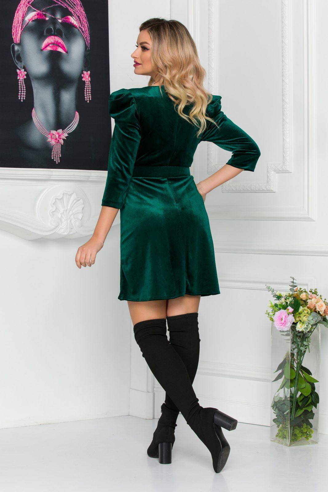 Πράσινο Φόρεμα Με Βάτες Naomi 8861 1