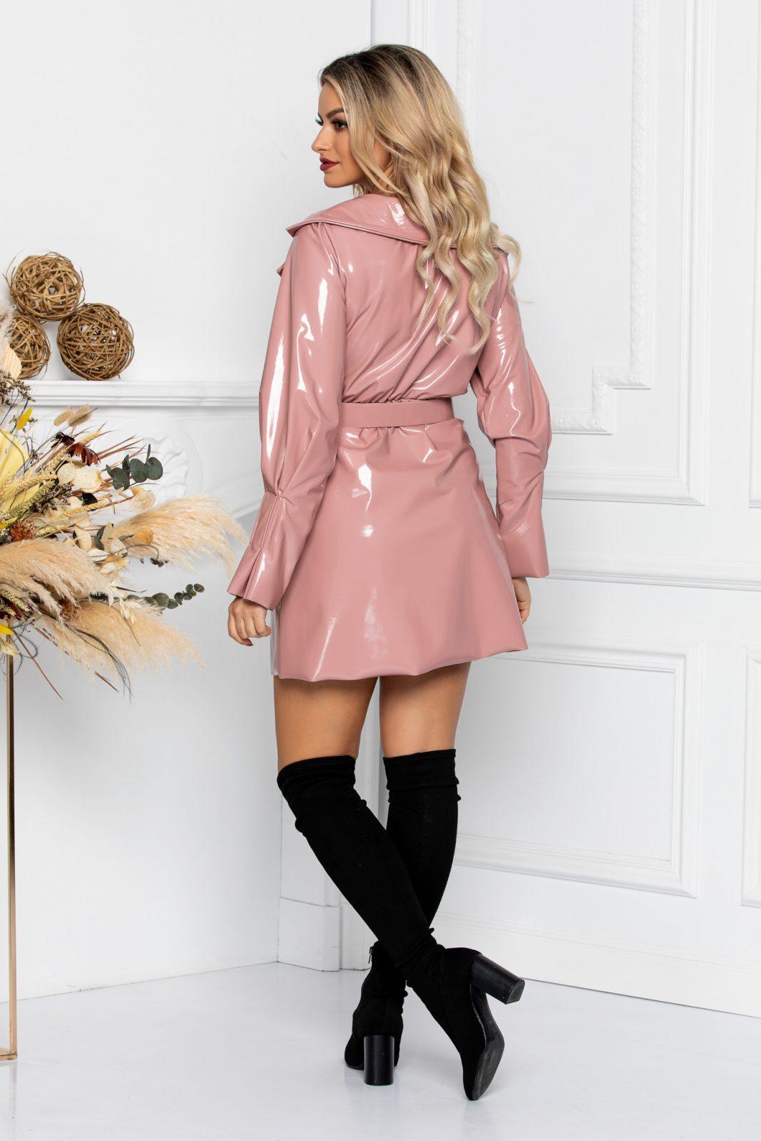 Ροζ Μίνι Φόρεμα Από Λουστρίνι Chaboo 8685 1
