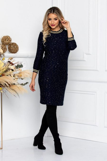 Grace Navy Dress