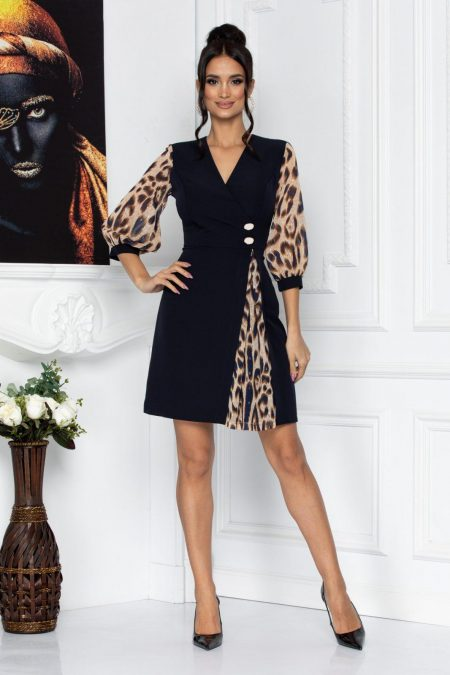 Petra Animal Print Dress