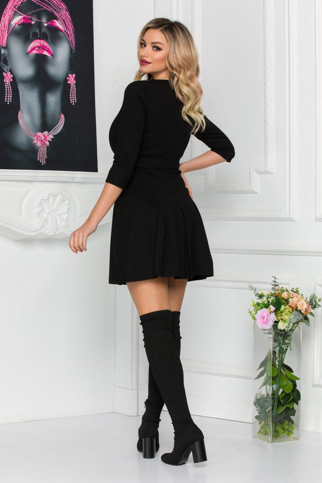 Μαύρο Φόρεμα Kamia 8806 2