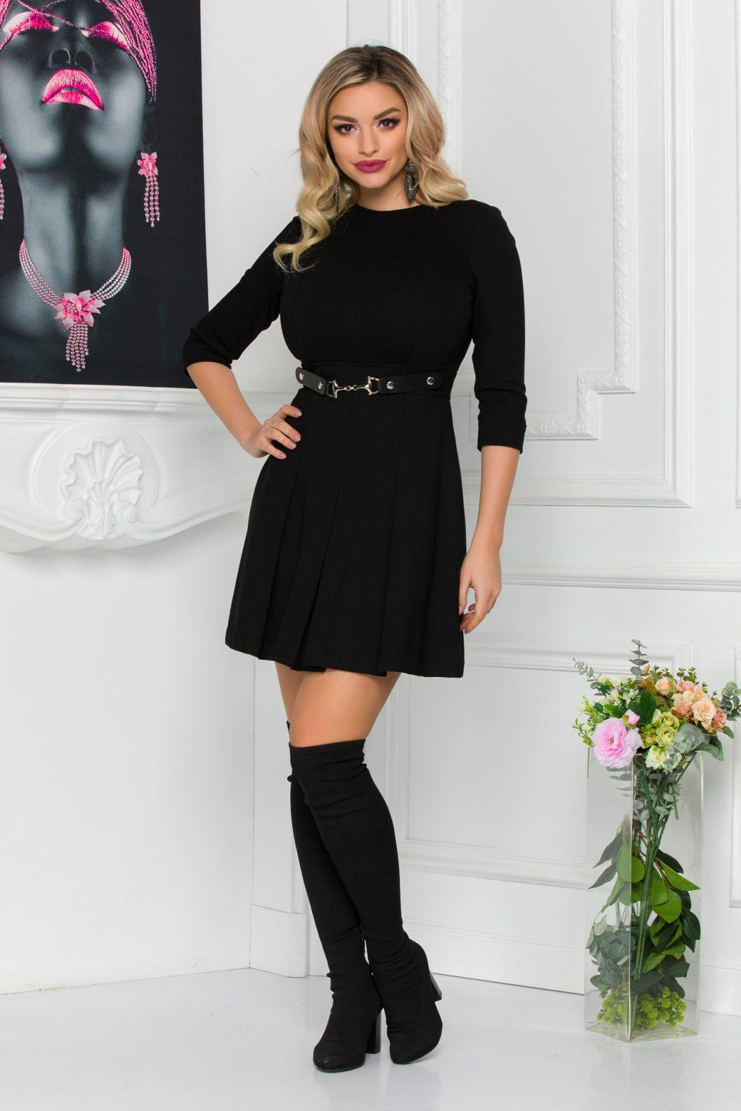 Μαύρο Φόρεμα Kamia 8806 1
