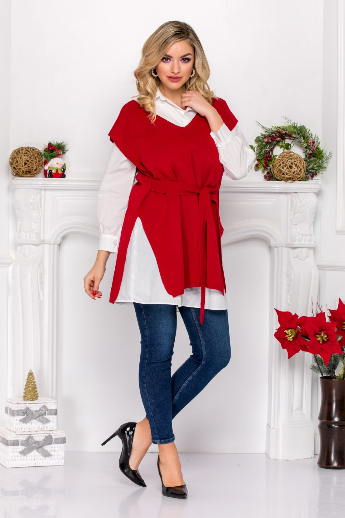 Brent Red Blouse