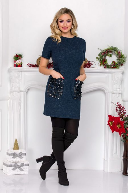 Benita Navy Dress