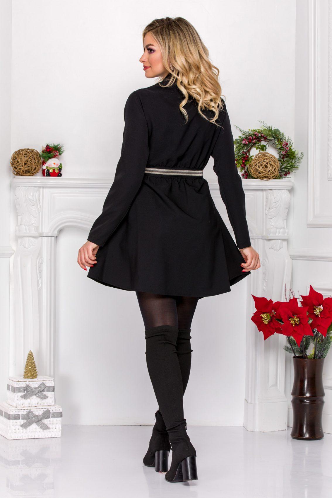 Μαύρο Κρουαζέ Φόρεμα Ariela 9147 4