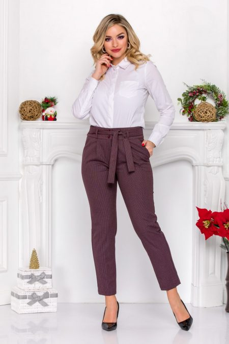 Layla Burgundy Trousers