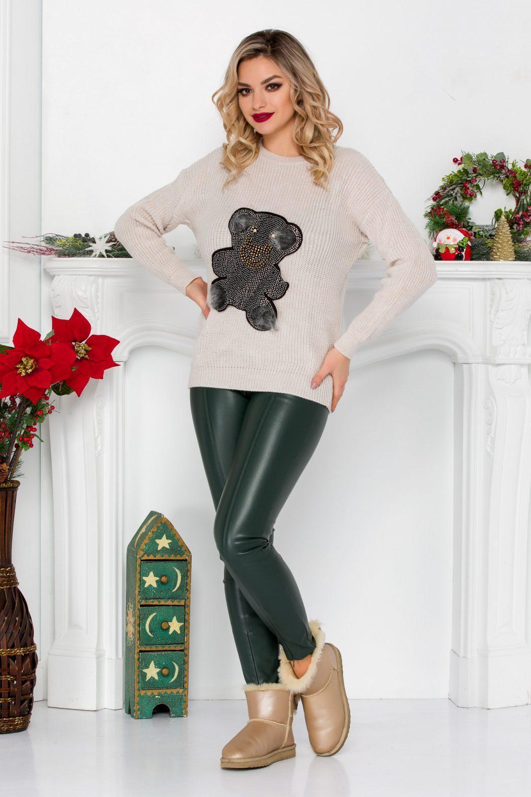 Teddy Beige Sweater