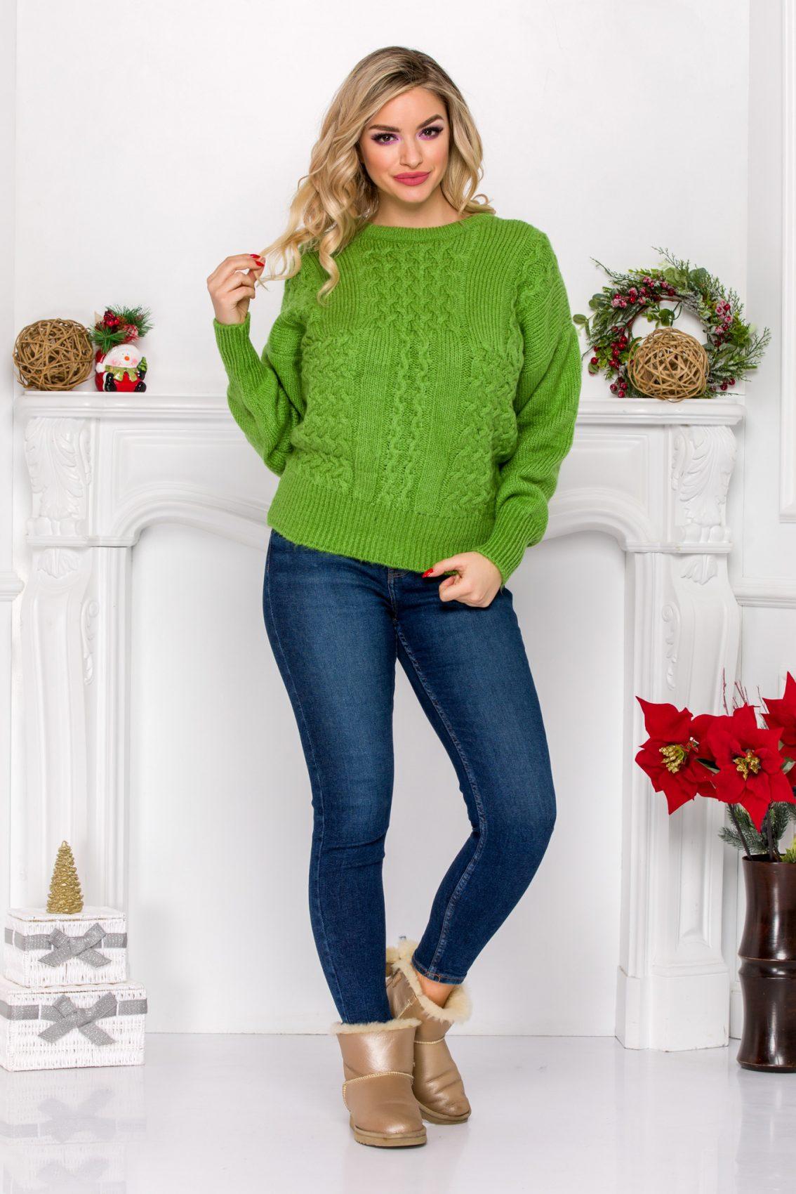Kosmi Light Green Sweater