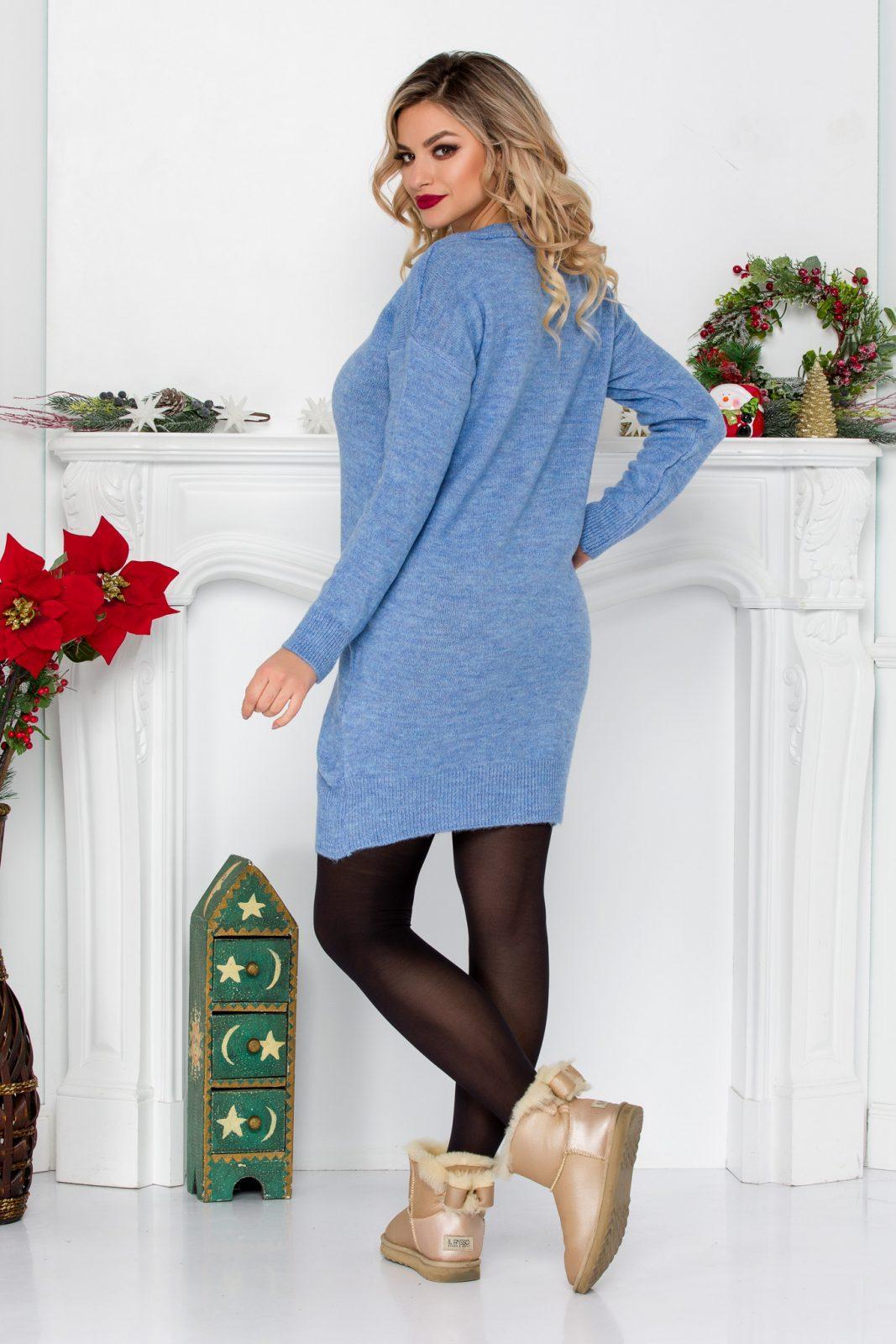 Μπλε Πλεκτή Μπλούζα Remi 8977 1