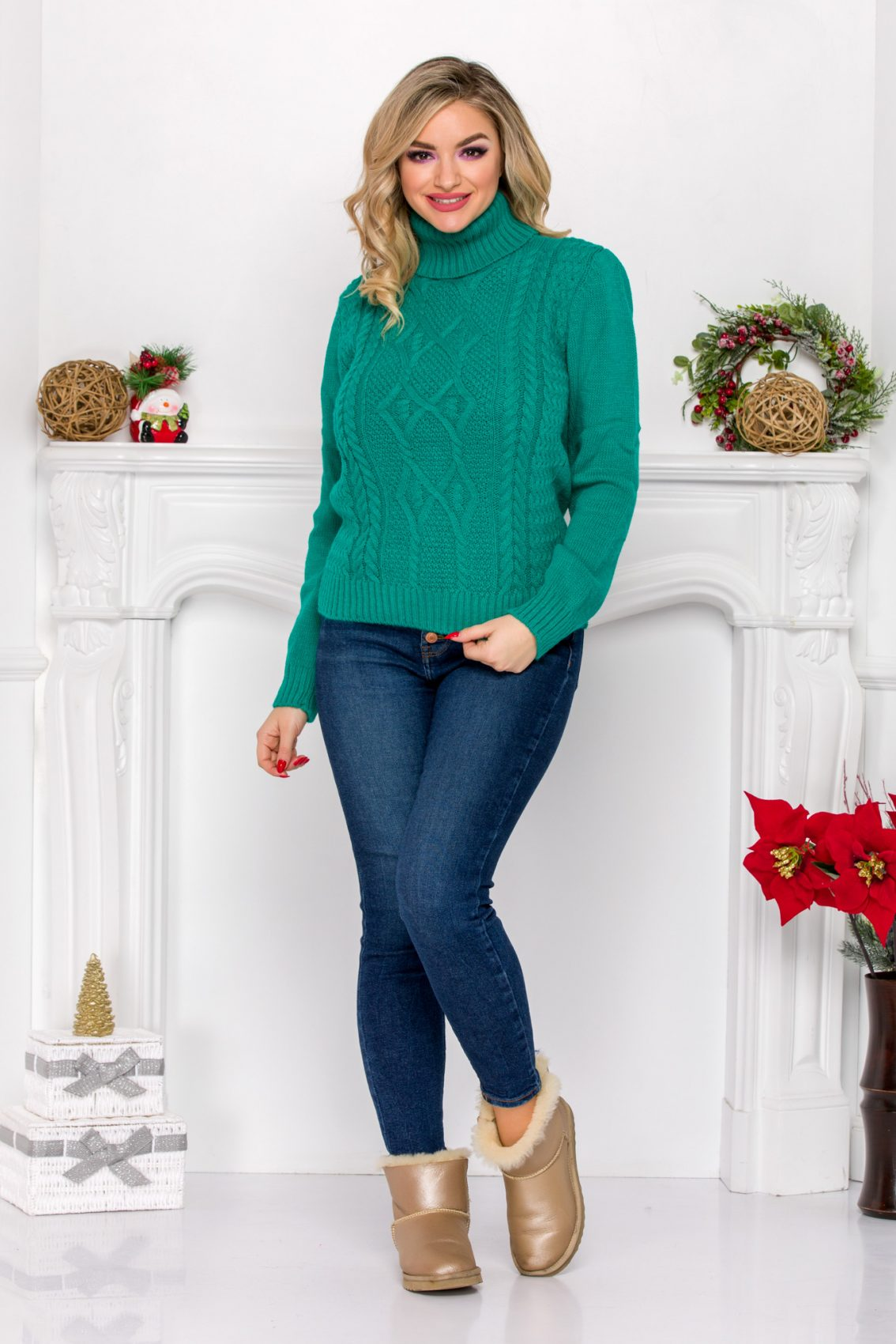 Cliff Turquoise Sweater