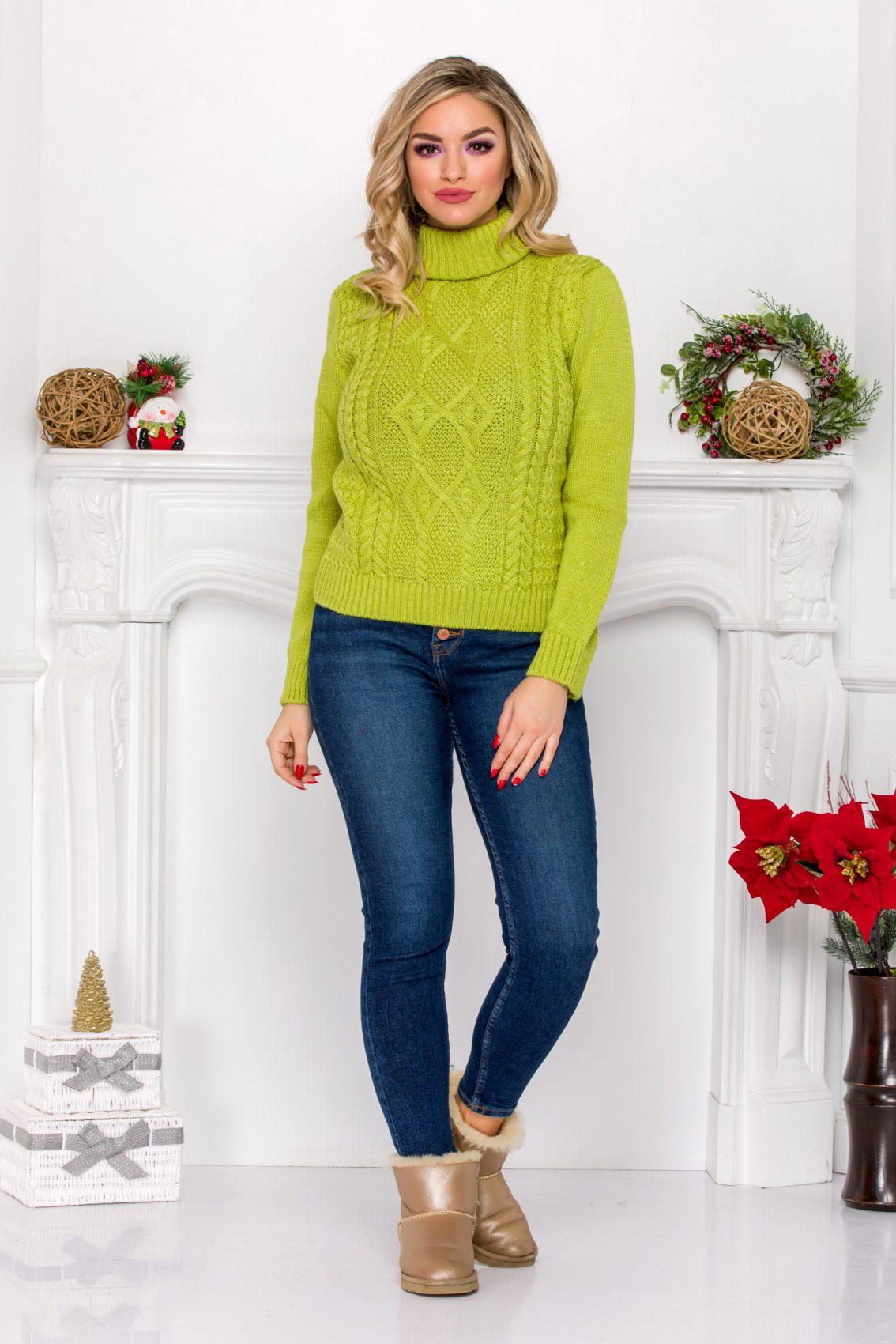Cliff Light Green Sweater
