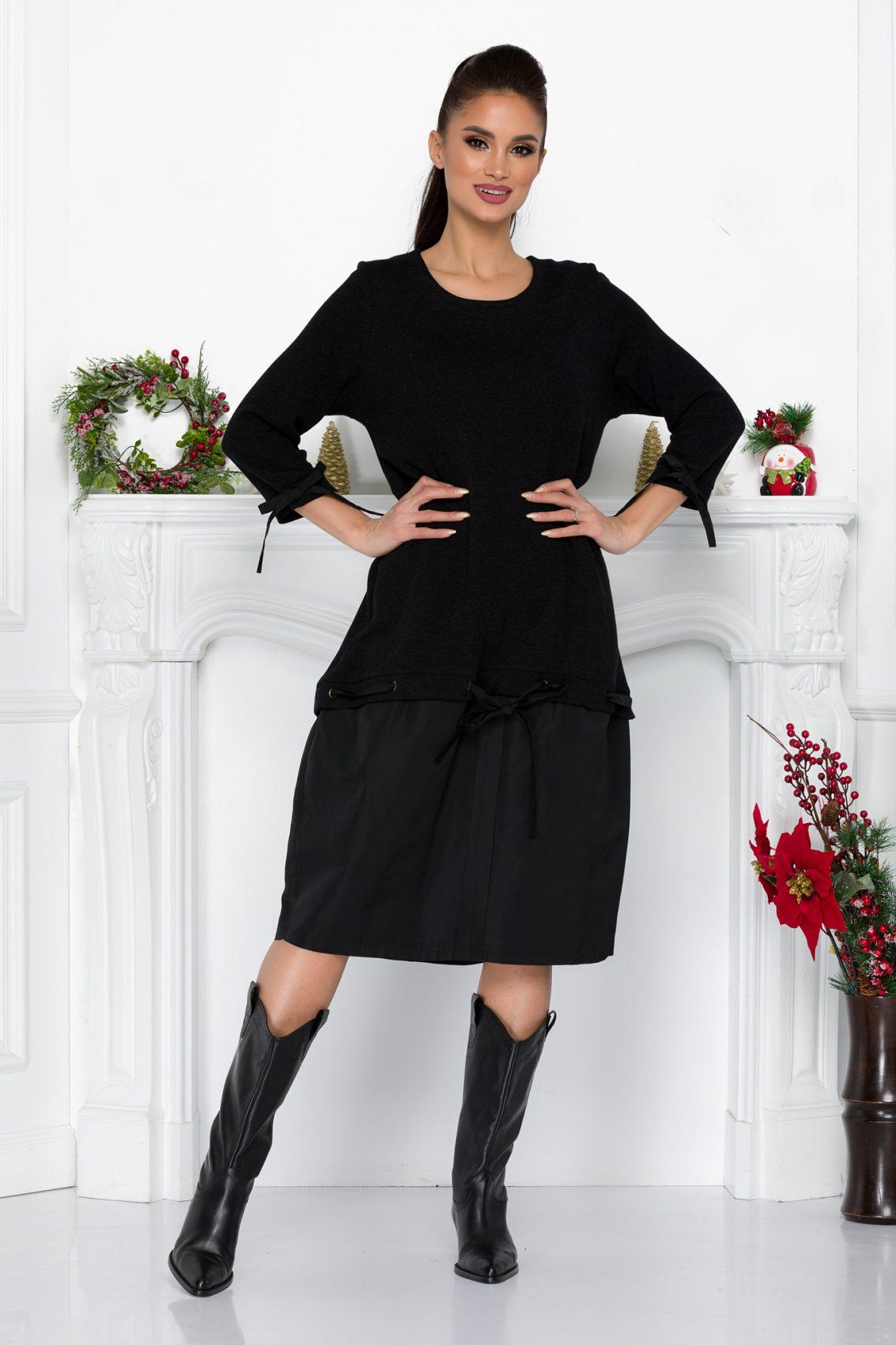 Μαύρο Φόρεμα Elaine 9187 2