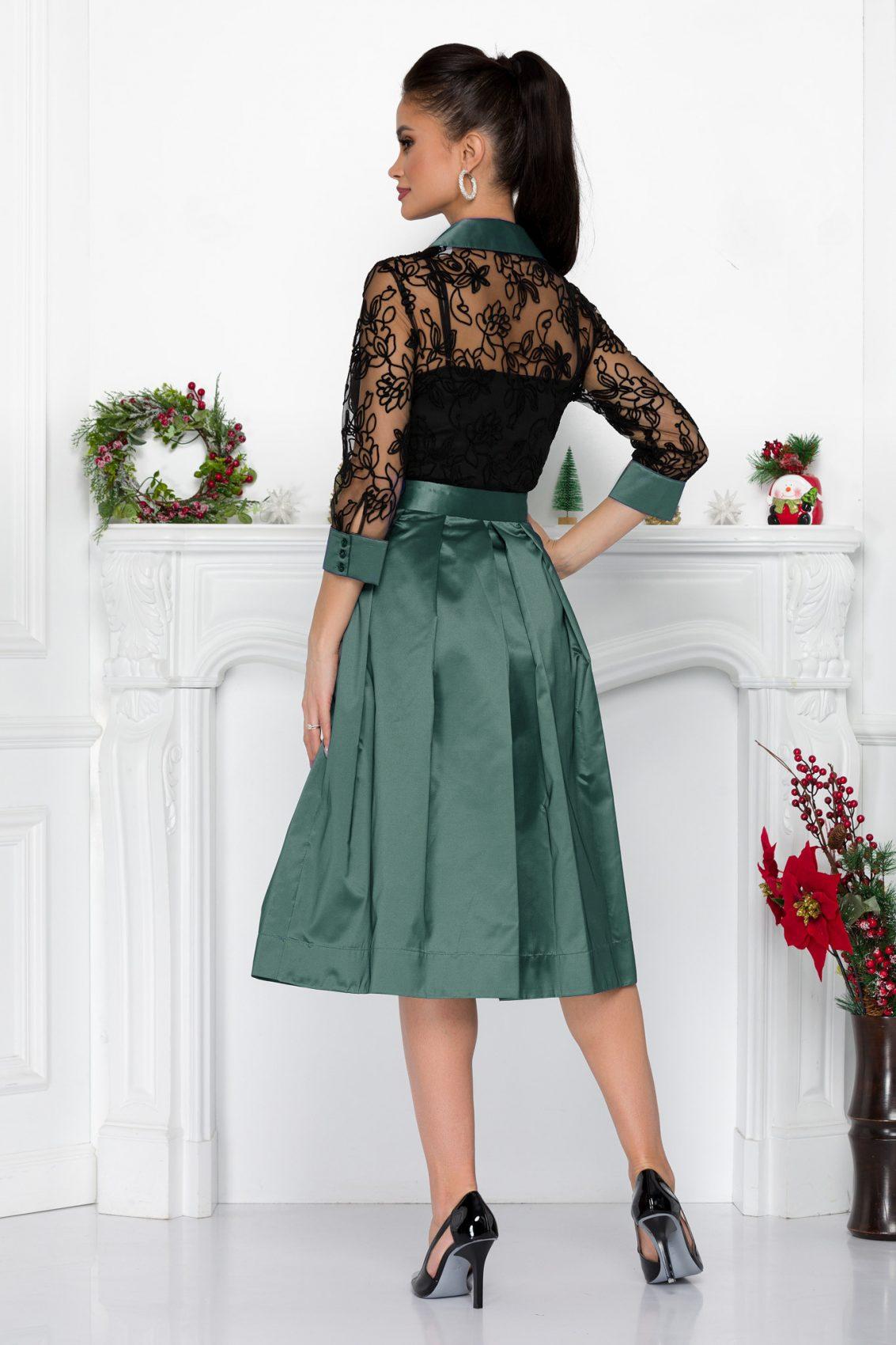 Τυρκουάζ Βραδινό Φόρεμα Με Δαντέλα Tiffany 9203 1