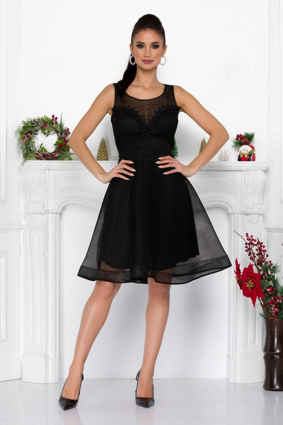 Μαύρο Βραδινό Φόρεμα Anyela 9037 3