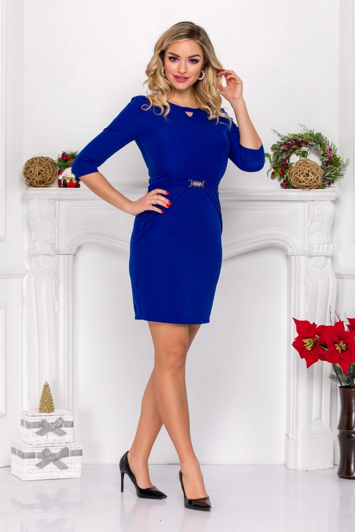 Μπλε Ρουά Μίνι Φόρεμα Harlett 9132 2