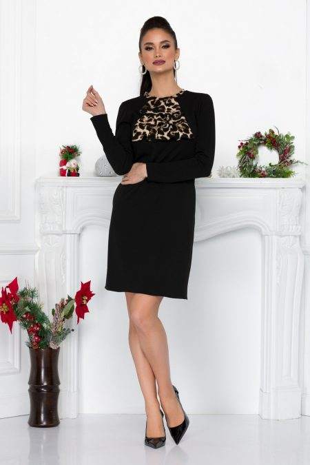 Moze Eveline Black Dress