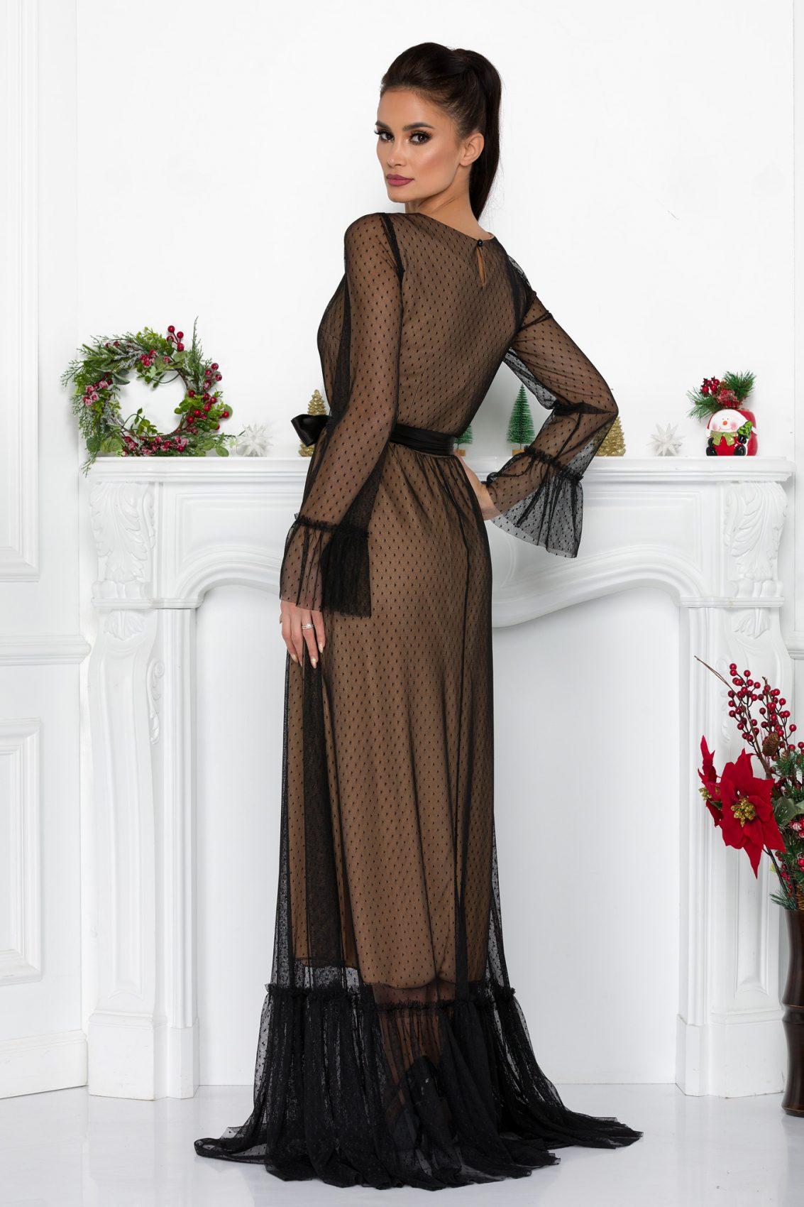 Nude Maxi Βραδινό Φόρεμα Impress 9117 1