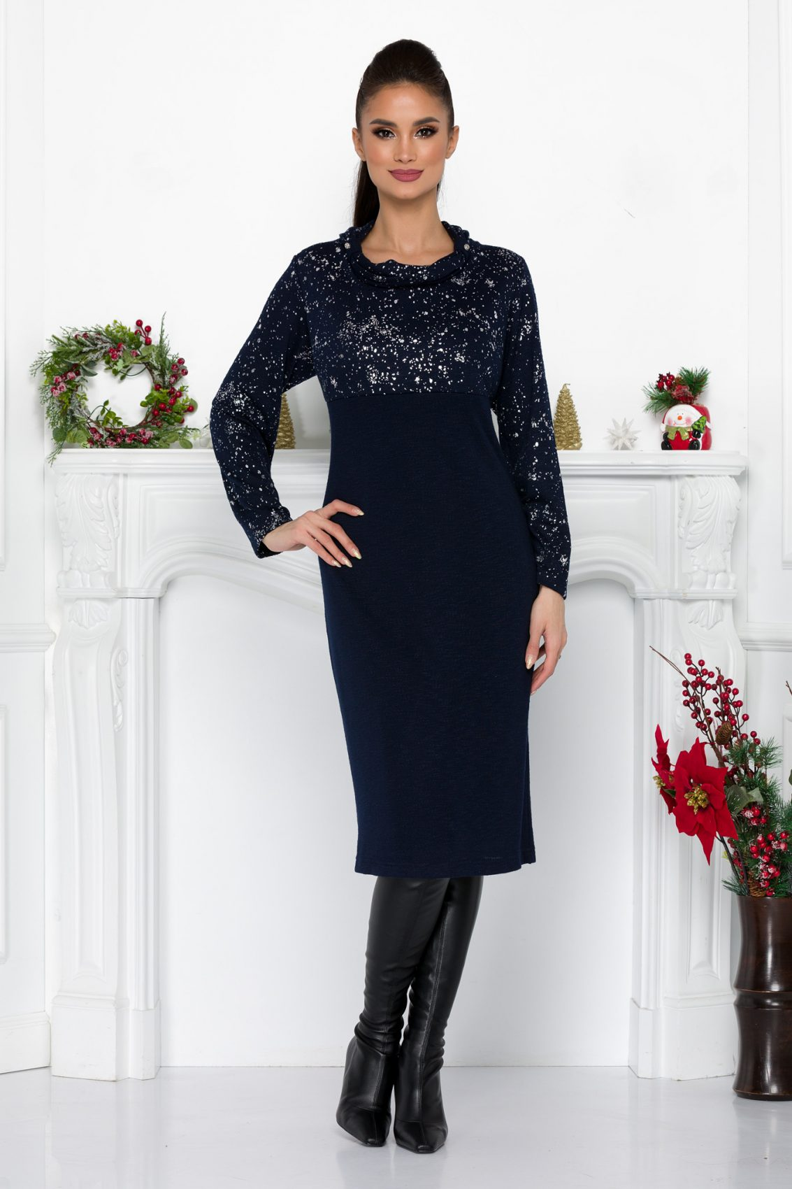 Joelle Navy Dress