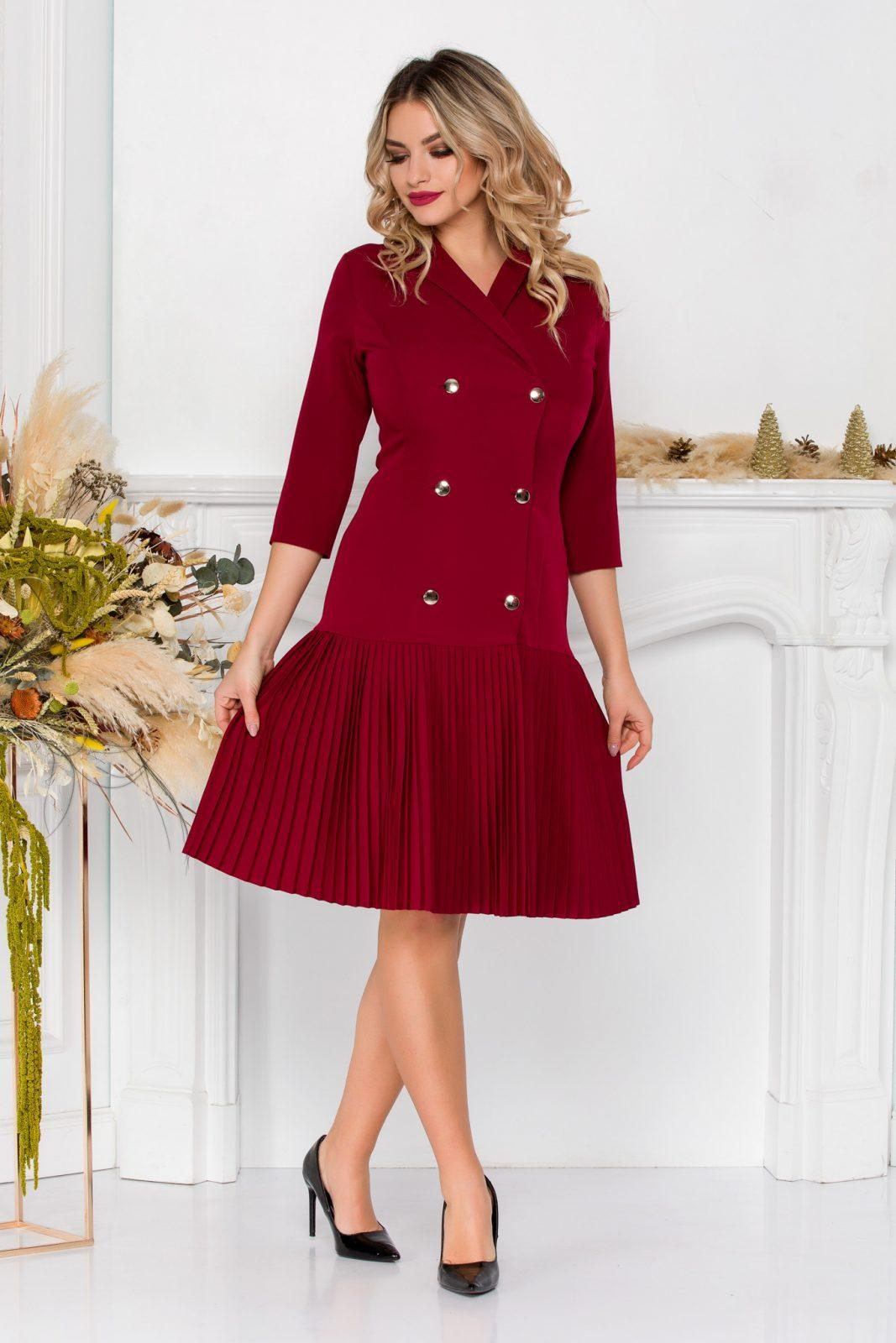 Rossy Burgundy Dress