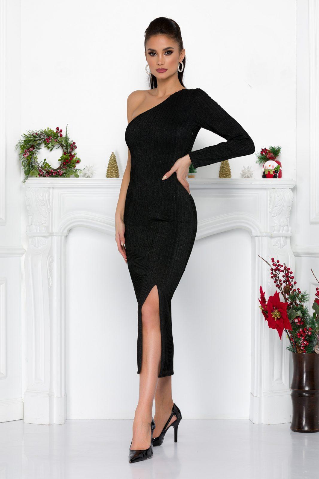 Μαύρο Βραδινό Φόρεμα Samantha 9197 2