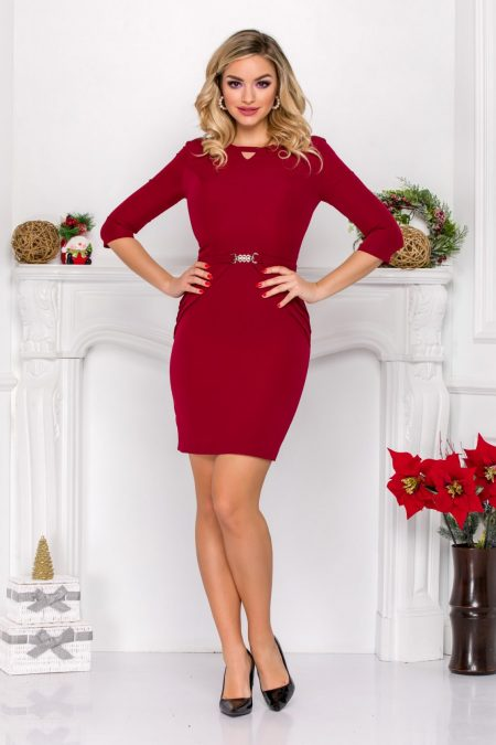 Harlett Burgundy Dress