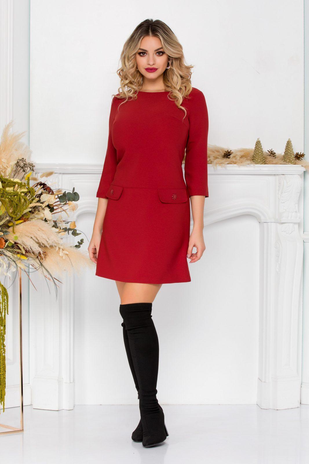Κεραμιδί Μίνι Φόρεμα Lilith 8926 1