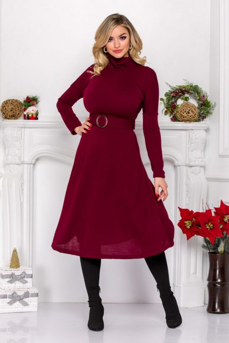 Ilyana Burgundy Dress