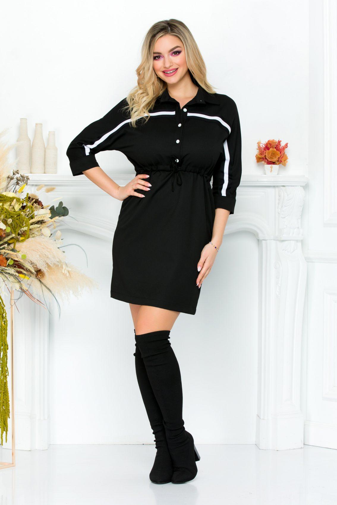 Μαύρο Καθημερινό Φόρεμα Sage 9291 2