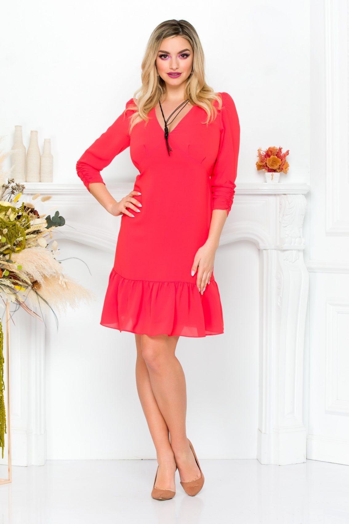 Κοράλι Φόρεμα Josephine 9237 2