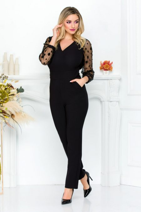 Savana Black Jumpsuit