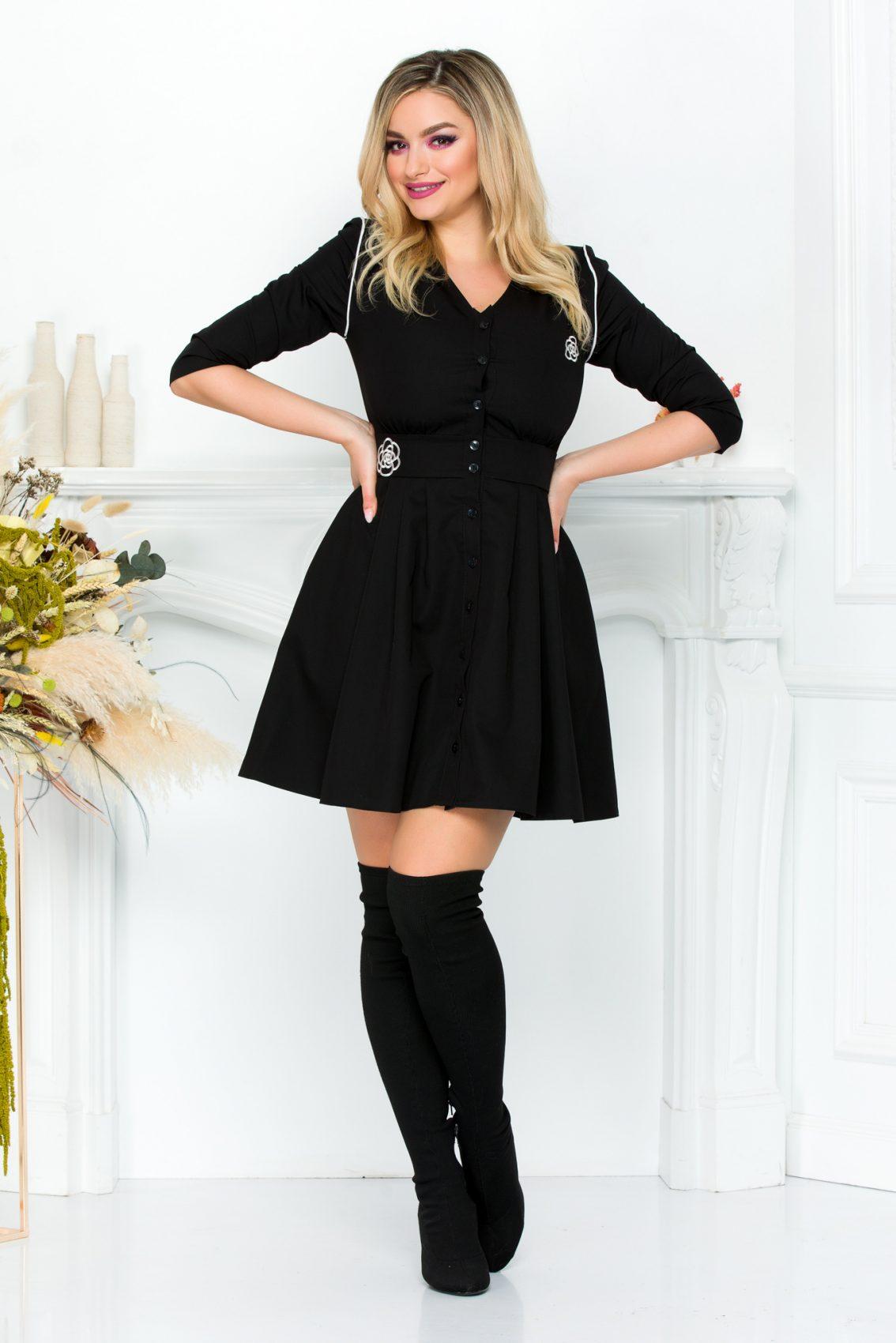Μαύρο Φόρεμα Luciana 9298 1