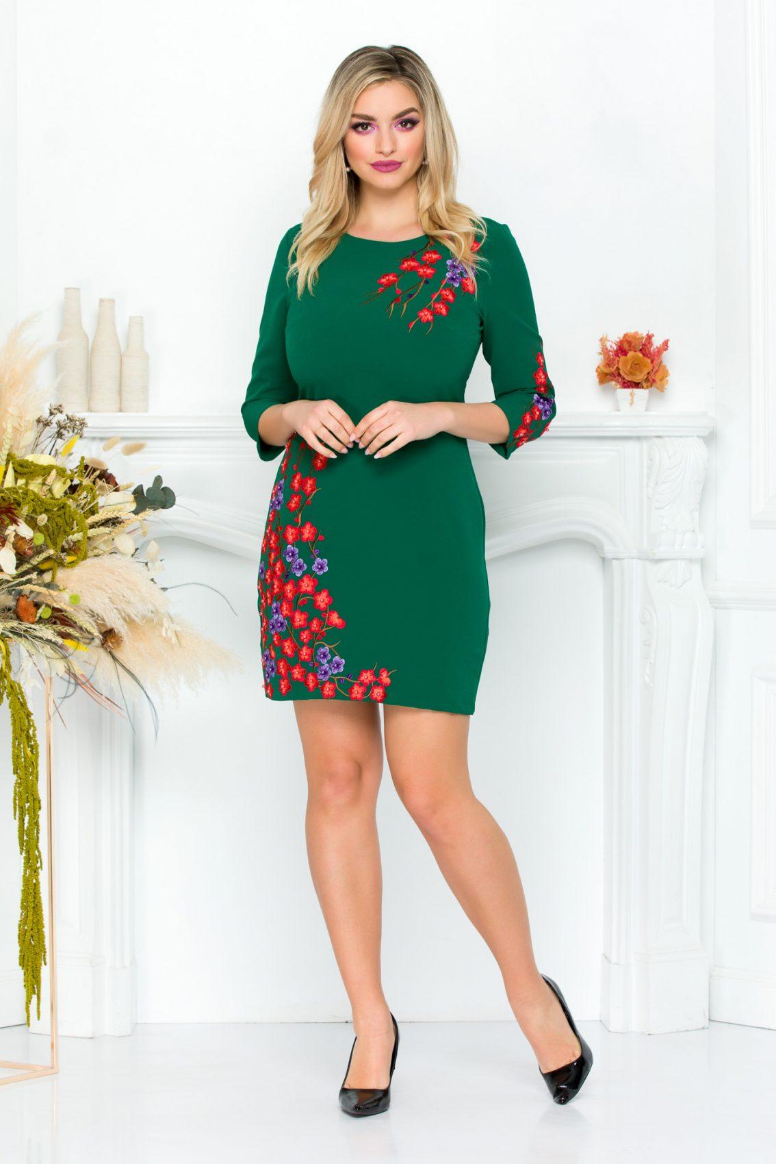 Πράσινο Φόρεμα Janessa 9212 2