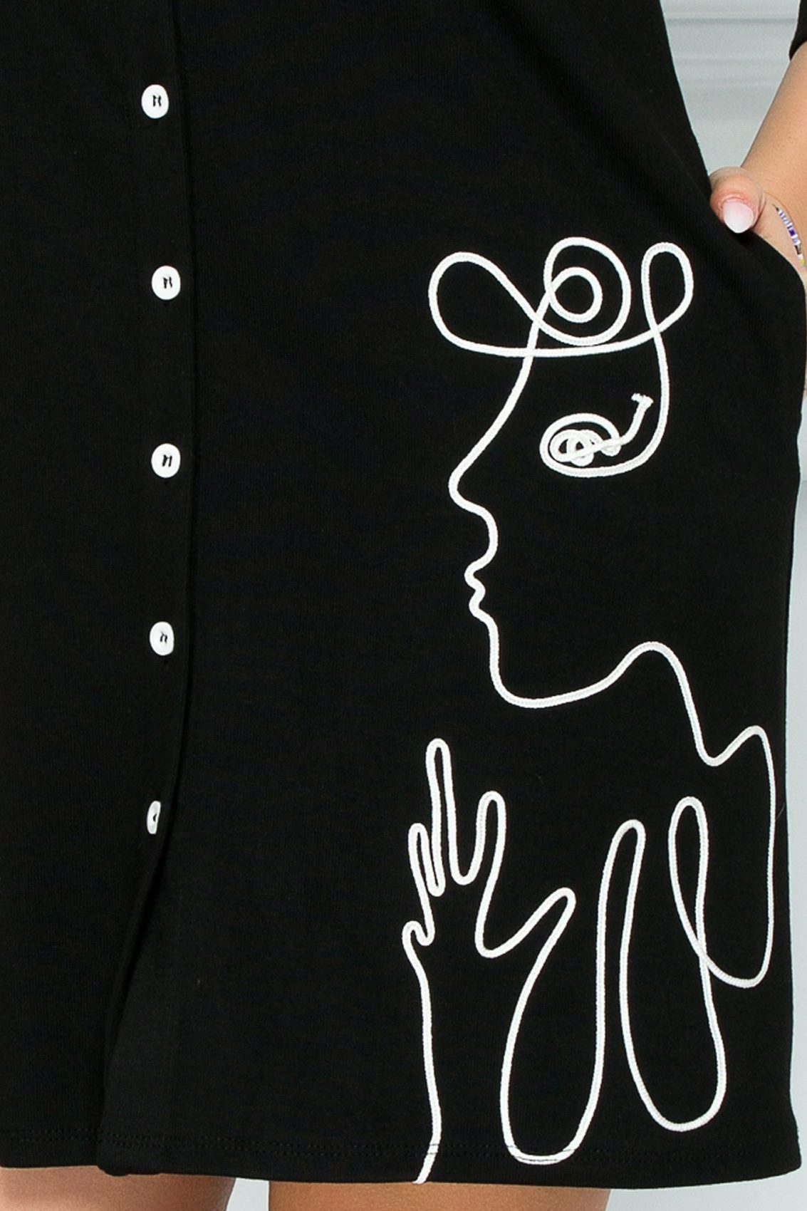 Μαύρο Καθημερινό Φόρεμα Dolyn 9247 3