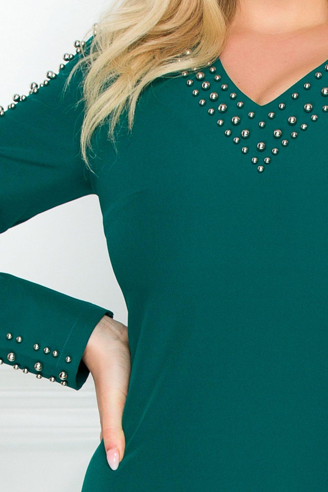 Πράσινο Φόρεμα Με Πέρλες Sirrya 9310 3