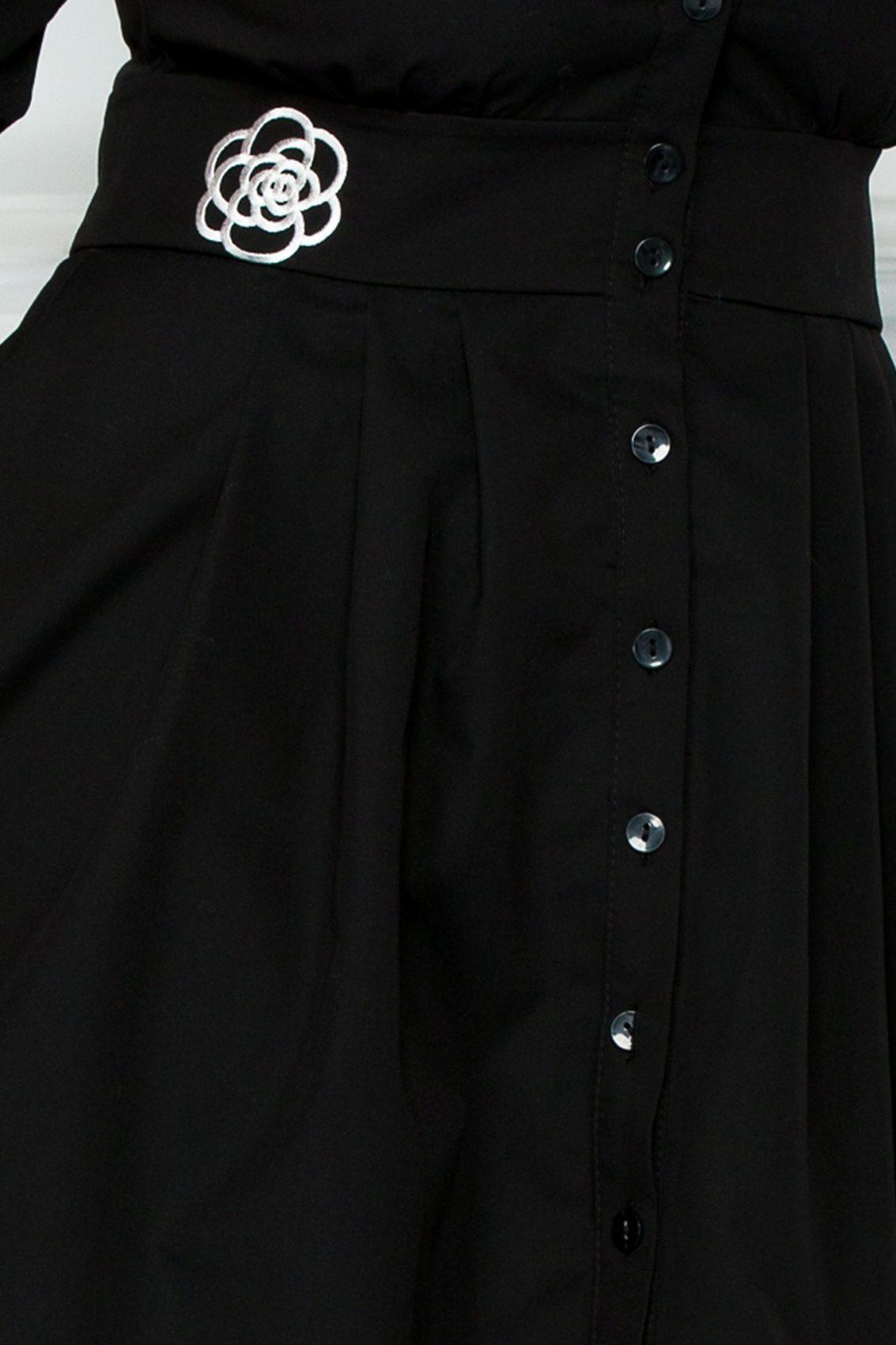 Μαύρο Φόρεμα Luciana 9298 3