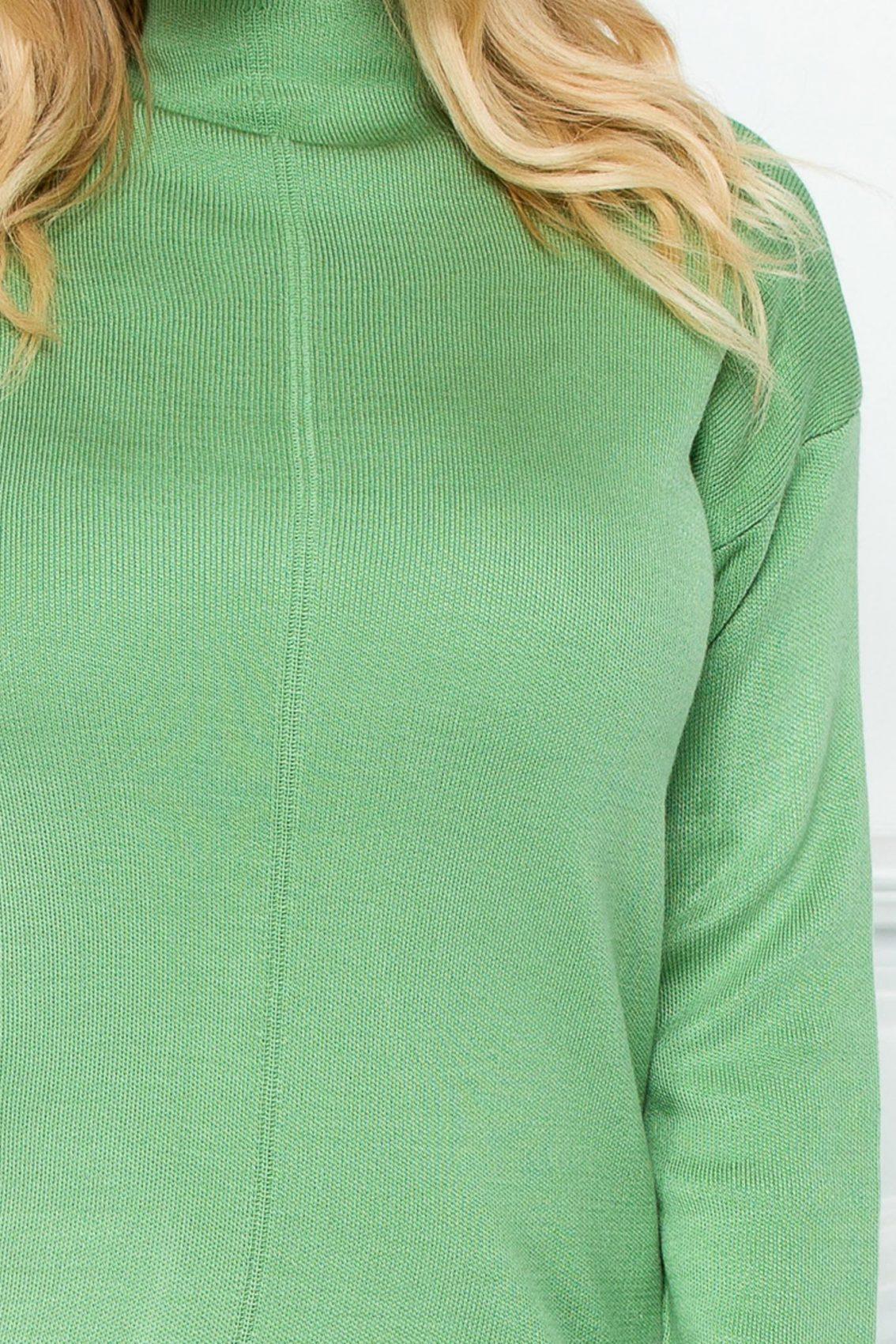 Πράσινο Πλεκτό Σετ Μπλούζα Με Παντελόνι Arabel 9220 2